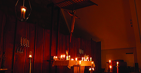 Taize Prayers for Peace held at Queen of Peace Chapel on the First Tuesday of every month.
